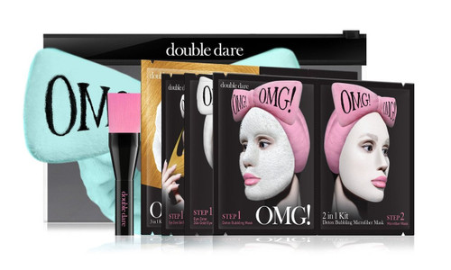 DOUBLE DARE - OMG! Premium Package Sky Blue (4MASK, 1HAIR BAND, 1 BRUSH)
