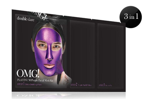 DOUBLE DARE - OMG! PLATINUM PURPLE FACIAL MASK KIT