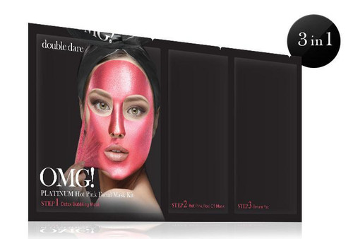 DOUBLE DARE - OMG! PLATINUM HOT PINK FACIAL MASK KIT