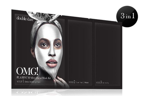 DOUBLE DARE - OMG! PLATINUM SILVER FACIAL MASK KIT