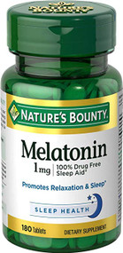Nature's Bounty Melatonin 1mg (180 Tablets) Buy online in Pakistan on Saloni.pk