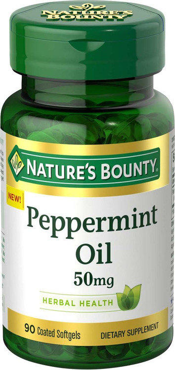 Nature's Bounty Peppermint Oil 50 mg (90 Coated Softgels)