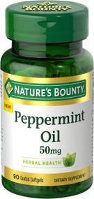 Nature's Bounty Peppermint Oil 50 mg (90 Coated Softgels) Buy online in Pakistan on Saloni.pk