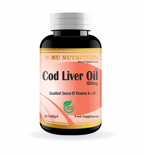 Nu Nutrition Cod Liver Oil 1000mg 30 Softgels buy online in Pakistan