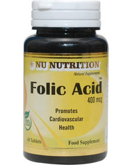 Nu Nutrition Folic Acid 400mcg 60 Tablets buy online in Pakistan