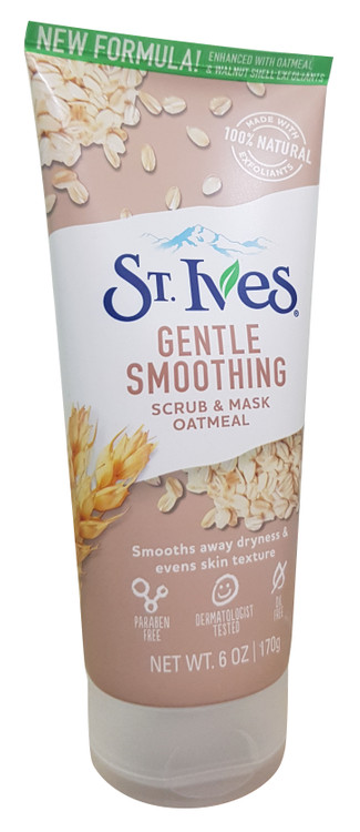 St. Ives Gentle Smoothing Oatmeal Scrub & Mask 170g Buy online in pakistan on saloni.pk