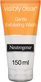 Neutrogena Facial Wash Visibly Clear Gentle Exfoliating 150ml .