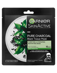 Garnier Pure Charcoal Black Tea Tissue Face Mask. Lowest Price on Saloni.pk.