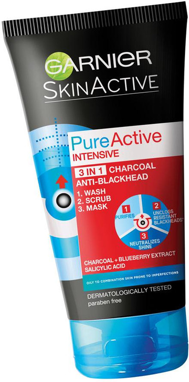 Garnier Pure-Active Intensive Charcoal 100ml. Lowest price on saloni.pk.