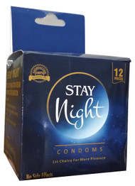 Stay Night Erectile Dysfunction Cream (with 12 Condoms)