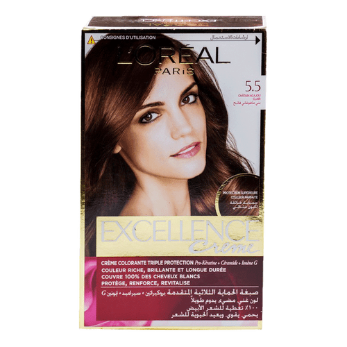 L'Oreal Excellence Cream Light Mahogany Brown 5.5