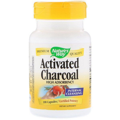 Nature's Way Activated Charcoal 560 mg (100 Capsules)