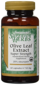 Swanson Super Strength Olive Leaf Extract 750 mg 60 Caps. Lowest price on Saloni.pk.