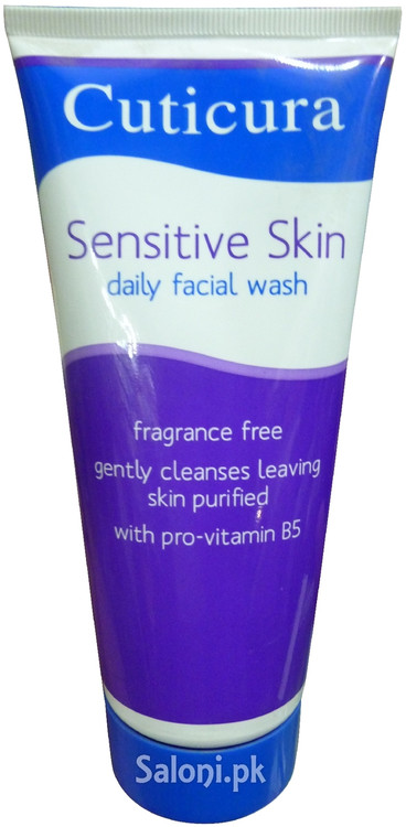 Cuticura Sensitive Skin Daily Facial Wash Front