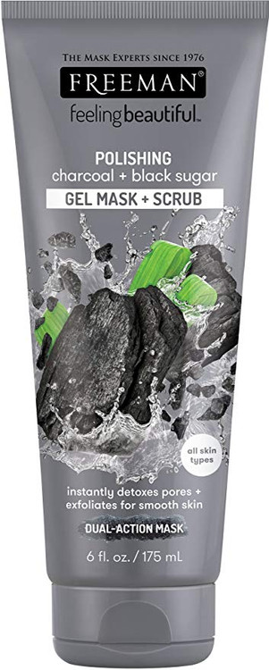 Freeman Polishing Charcoal + Black Sugar Gel Mask & Scrub 175ml