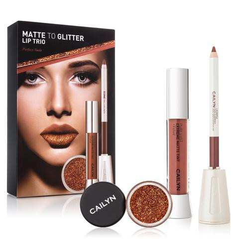 Cailyn Matte To Glitter Lip Trio Perfect Nude Lowest price on Saloni.pk