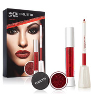 Cailyn Matte To Glitter Lip Trio Power Red Lowest price on Saloni.pk