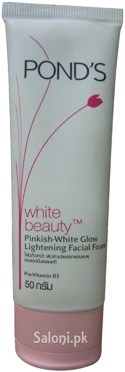 Pond's White Beauty Pinkish White Glow Lightening Facial Foam Front
