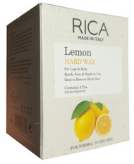 Rica Lemon Hard Wax 3 Pieces best hair removal leg body wax