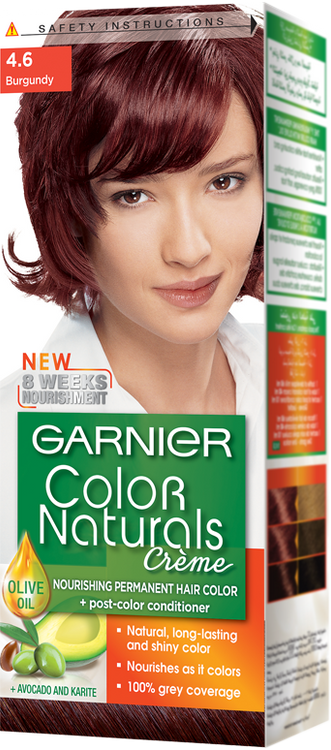 Garnier Color Naturals Hair Color Creme Burgundy 4.6