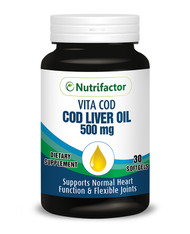 Nutrifactor Vita Cod (Cod Liver Oil 500mg) 30 Softgels