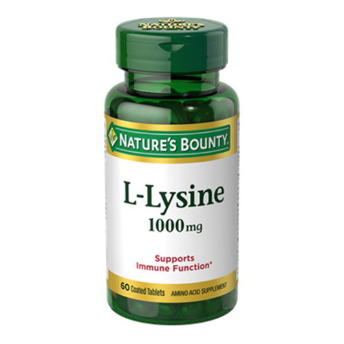 Nature's Bounty L-Lysine 1000 mg 60 Coated Tablets
