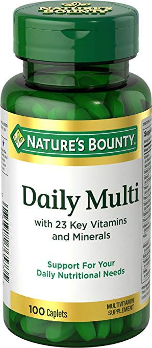 Nature's Bounty Daily Multi 23 Key Vitamins and Minerals 100 Caplets Buy online in Pakistan on Saloni.pk