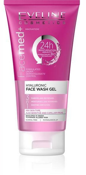 Eveline Facemed Hyaluronic Face Wash Gel. Lowest price on Saloni.pk.