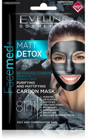 veline Facemed Matt Detox Carbon Mask. Lowest price on Saloni.pk.
