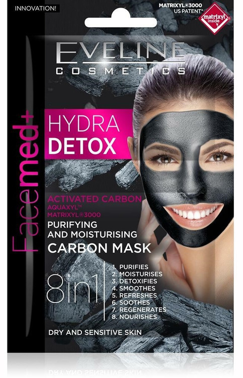 Eveline Facemed Hydro Detox Carbon Mask. Lowest price on Saloni.pk.