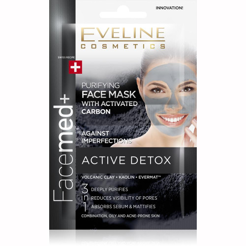 Eveline Facemed Face Mask Activated Carbon 10 ML. Lowest price on Saloni.pk.