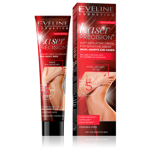 Eveline Laser Precision Soft Depilatory Cream for Sensitive Areas. Lowest price on Saloni.pk.