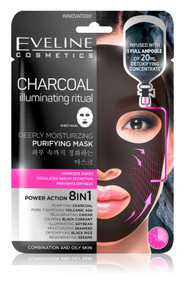 Eveline Sheet Mask Charcoal Illuminating Ritual. Lowest price on Saloni.pk.