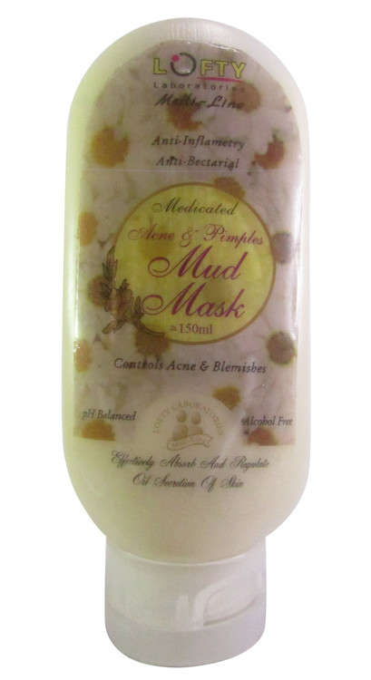 Lofty Medicated Acne & Pimples Mud Mask 150 ML (Front)