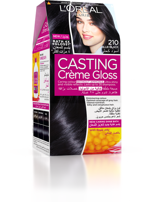L'Oreal Paris Casting Creme Gloss 210 Blue Black