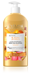 Eveline Botanic Expert 5 Precious Oils Ultra Nourishing Body Oil in Lotion. Lowest price on Saloni.pk.