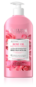 Eveline Botanic Expert Rose Oil Body Milk With Oil 350 ML. Lowest price on Saloni.pk.