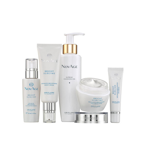 Oriflame Novage Bright Sublime Set 5 Pieces. Lowest price on Saloni.pk.
