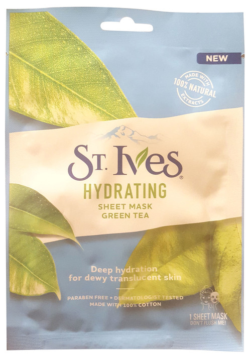 St.Ives Hydrating Face Mask Green Tea 1 Sheet