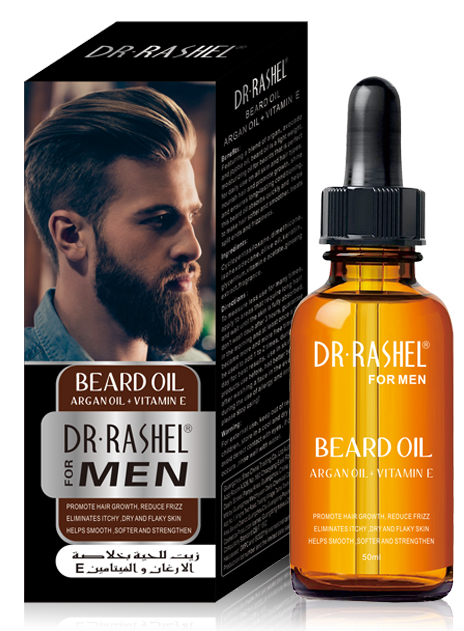 Dr. Rashel Beard Oil With Argan Oil + Vitamin E For Men 30ML