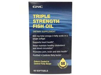 GNC Triple Strength Fish Oil (60 Softgels). Lowest price on Saloni.pk.