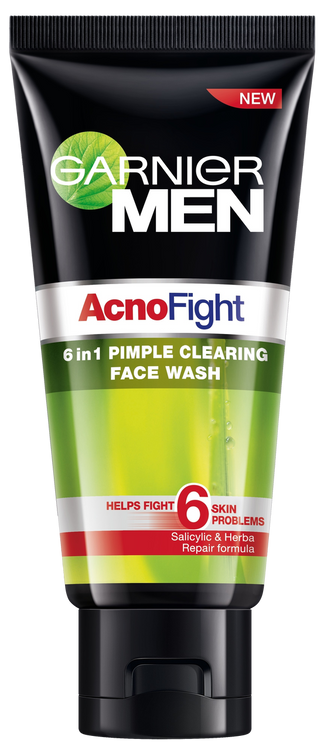 Garnier Men Acno Fight 50ml 6 In 1 Pimple Clearing Face Wash