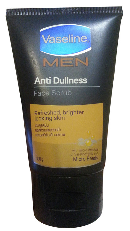 Vaseline Men Anti Dullness Face Scrub 100 Grams (Front)