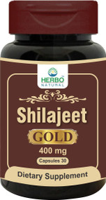 Herbo Natural Shilajeet Gold Capsules 30 Capsule. Lowest price on Saloni.pk