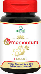 Herbo Natural Momentum Tablets (30 Capsules). Lowest price on Saloni.pk