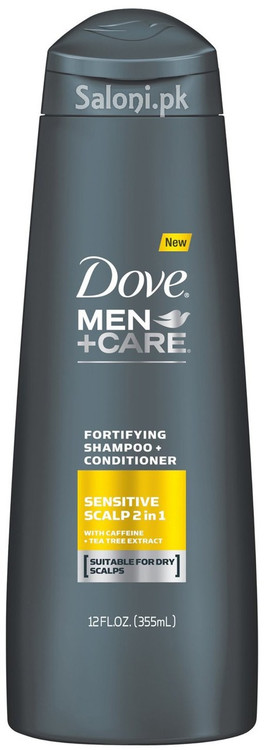 Dove Men + Care Sensitive Scalp 2 In 1 Fortifying Shampoo + Conditioner Front