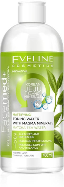 Eveline FaceMed+ Mattifying Toning Water With Magma Minerals 400 ml. Lowest price on Saloni.pk.