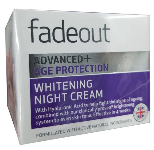Fade Out Advanced+ Age Protection Whitening Night Cream SPF 25 50ml. Lowest price on Saloni.pk