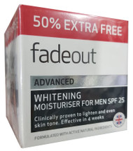 Fadeout Advanced Whitening Moisturizer for Men SPF 25 Cream 75ML. Lowest price on Saloni.pk