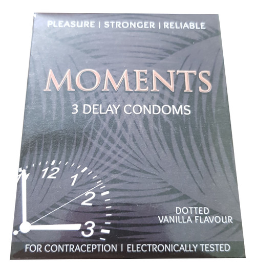 The Vitamin Company Moments Dotted Delay Condom Vanilla Flavored. Lowest price on Saloni.pk